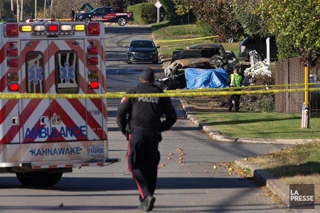 L'accident est survenu vers 3h, sur le boulevard... (PHOTO ROBERT SKINNER, LA PRESSE)