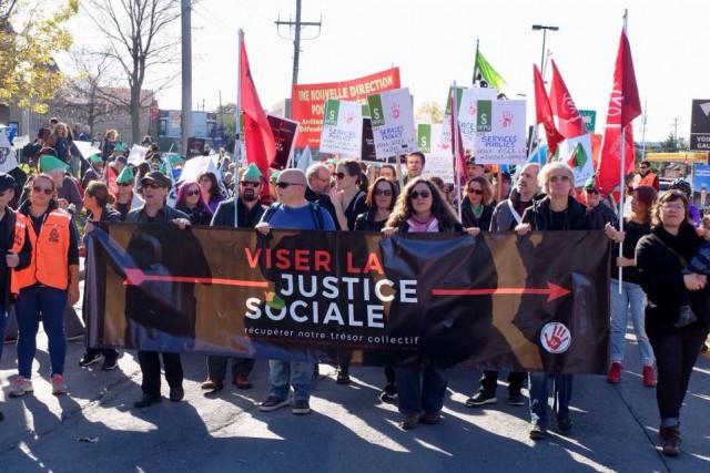 La manifestation a été organisée par laCoalition Main... (PHOTO TIRÉE DE FACEBOOK)