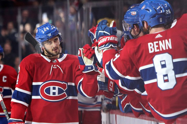 Phillip Danault a terminé la rencontre contre les... (PHOTO JEAN-YVES AHERN, USA TODAY)