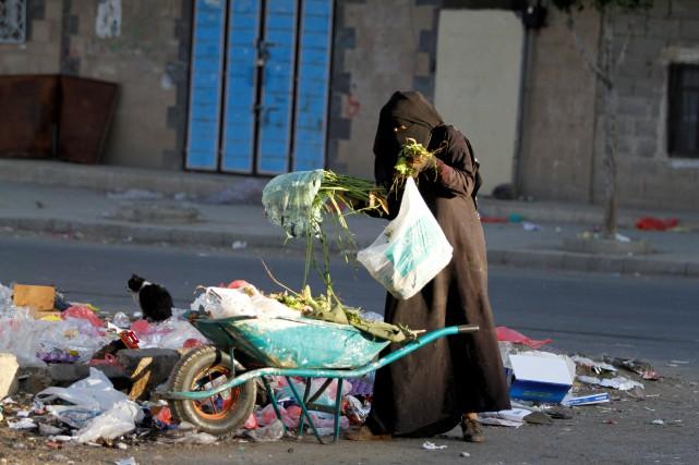Au Yémen, sept millions de personnes sont menacées... (Photo Mohamed al-Sayaghi, REUTERS)
