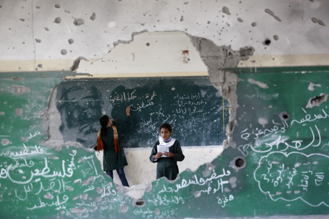 Le mouvement islamiste Hamas a construit de multiples... (Photo MOHAMMED ABED, AFP)