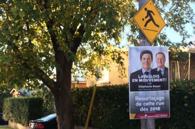 Au cours des derniers jours, des pancartes électorales... (Photo fournie)