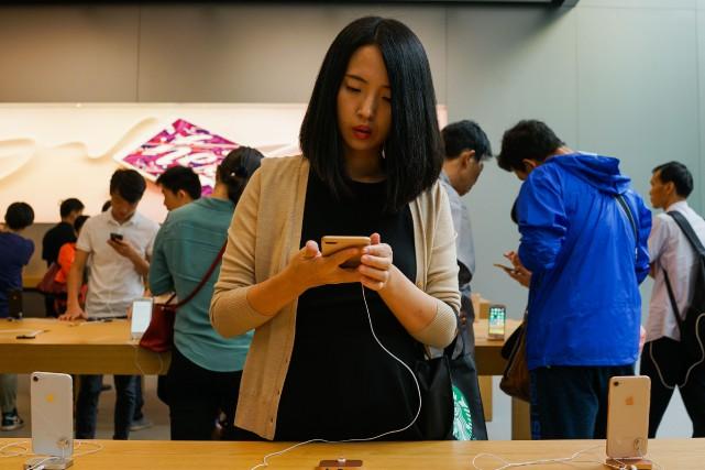 Quelque 11 millions d'iPhone ont été écoulés sur... (AFP)