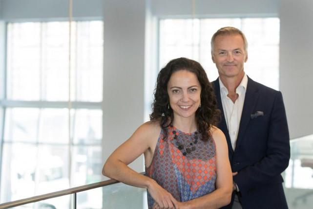 La journaliste Isabelle Audet et l'analyste sportif Dany... (Photo Ivanoh Demers, La Presse)