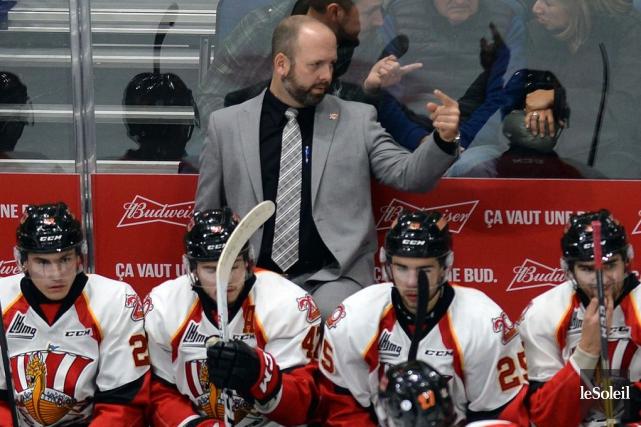 L'entraîneur-chef du Drakkar de Baie-Comeau, Martin Bernard.... (Photo Erick Labbé, Le Soleil)