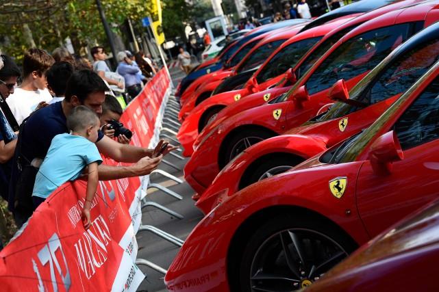 L'action de Ferrari a franchi les seuil psychologique... (photo : AFP)