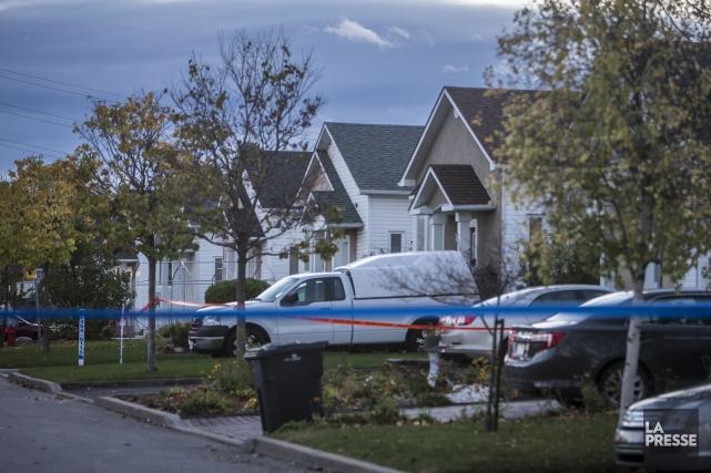 La SQ a confirmé que l'assassin présumé avait... (PHOTO OLIVIER PONTBRIAND, LA PRESSE)