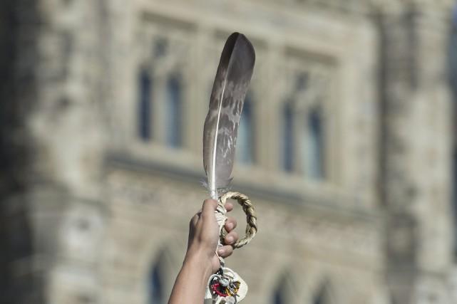 La GRC a indiqué que la plume serait... (Photo La Presse canadienne)