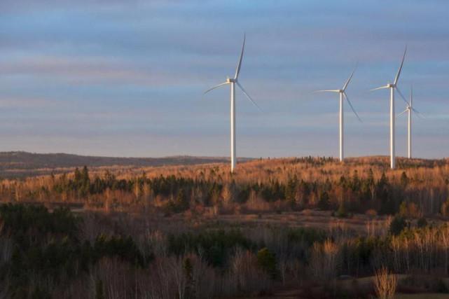 Le parc éolien Viger-Denonville, détenu par Innergex et... (Photo fournie par Innergex)