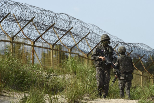 «Le président ne visitera pas la DMZ, il... (PHOTO AP/MINISTÈRE DE LA DÉFENSE SUD-CORÉEN)