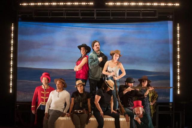 Les interprètes du Wild West Show de GabrielDumont... (Photo Ivanoh Demers, La Presse)