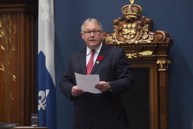 Le président de l'Assemblée nationale, Jacques Chagnon.... (Photo Jacques Boissinot, PC)