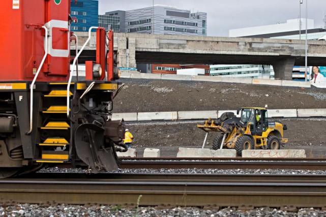 Le CN a entrepris un important chantier dans... (Photo Patrick Sanfaçon, La Presse)