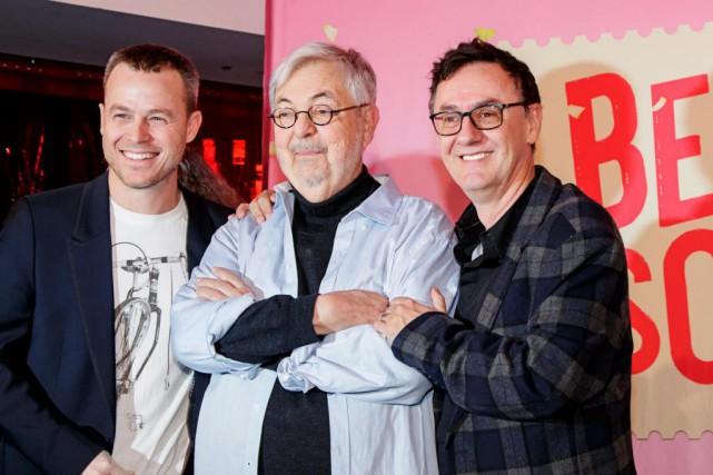 Le dramaturge Michel Tremblay en compagnie du producteur... (PHOTO ALAIN ROBERGE, LA PRESSE)