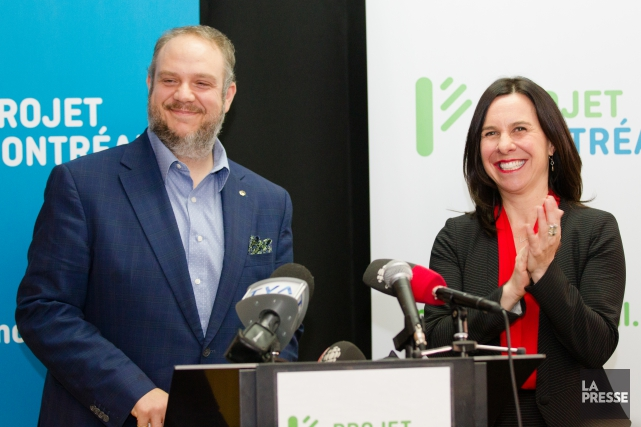 Benoit Dorais et Valérie Plante.... (PHOTO NINON PEDNAULT, ARCHIVES LA PRESSE)