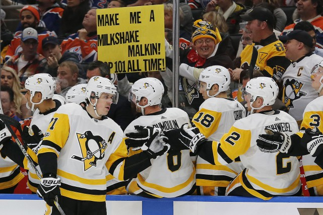 Evgeni Malkin a inscrit le but gagnant des... (Photo Perry Nelson, USA TODAY Sports)