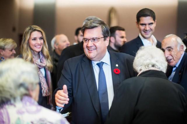 Évitant les journalistes hier, Denis Coderre a plutôt... (Photo Olivier PontBriand, La Presse)