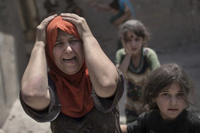 Mossoul avait été capturée par les djihadistes de... (AP)