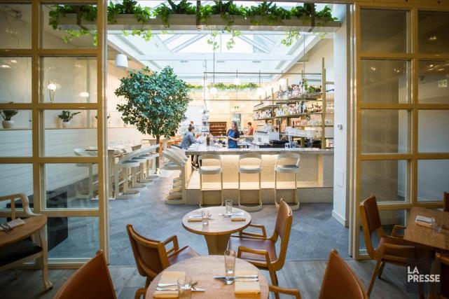 Le restaurant Perles et paddock de la rue... (Photo Olivier PontBriand, La Presse)