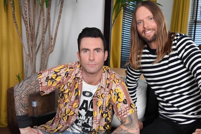 Adam Levine et James Valentine de Maroon 5.... (Photo AFP)