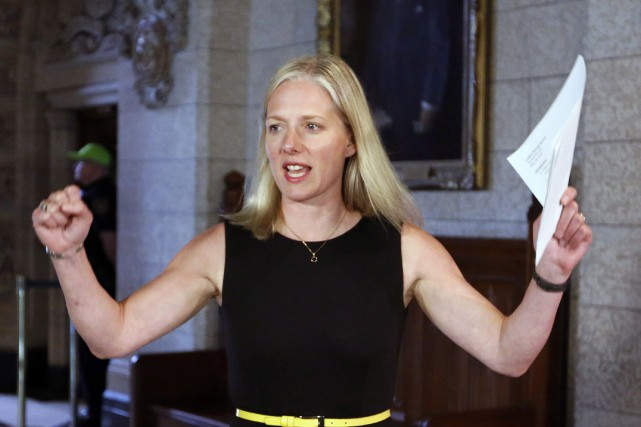La ministre a exhorté un média à s'engager... (Photo archives La Presse Canadienne)