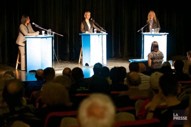 Les trois candidates à la mairie de Longueuil... (Photo André Pichette, archives La Presse)