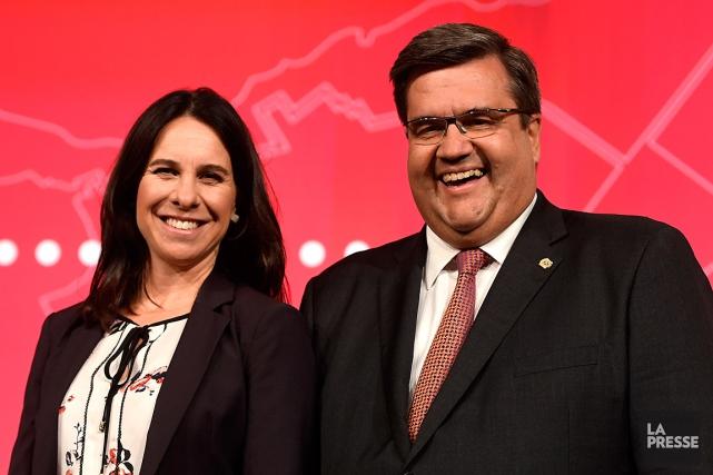 Les deux candidats à la mairie de Montréal... (PHOTO BERNARD BRAULT, ARCHIVES LA PRESSE)
