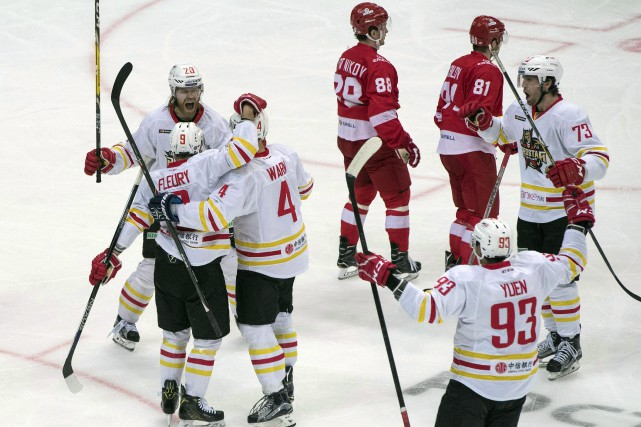 La KHL, qui est établie à Moscou et... (THE ASSOCIATED PRESS)