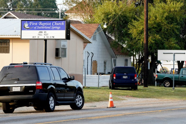 La First Baptist Church de Sutherland Springs, une... (Photo Rick Wilking, REUTERS)