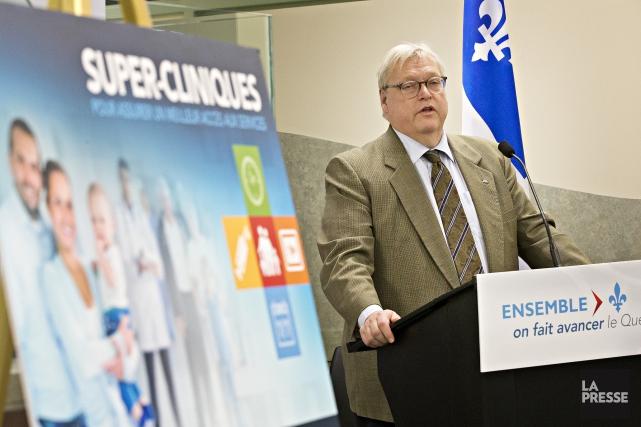 Le ministre de la Santé, Gaétan Barrette,compte ouvrir... (Photo Patrick Sanfacon, La Presse)