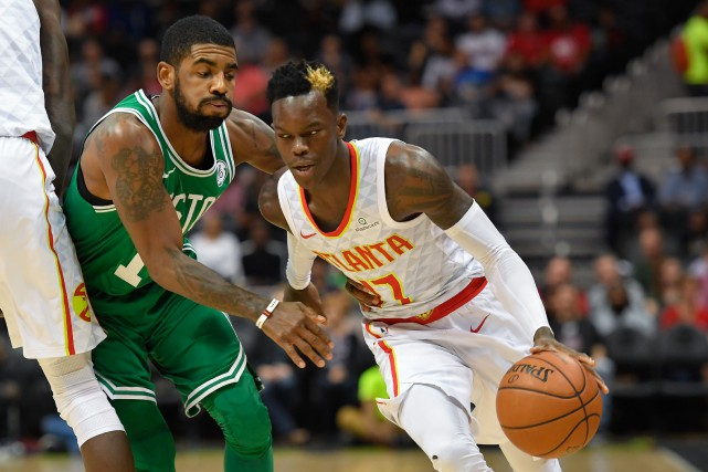 Le garde des Hawks d'Atlanta Dennis Schroder est... (Photo Dale Zanine, USA TODAY Sports,)