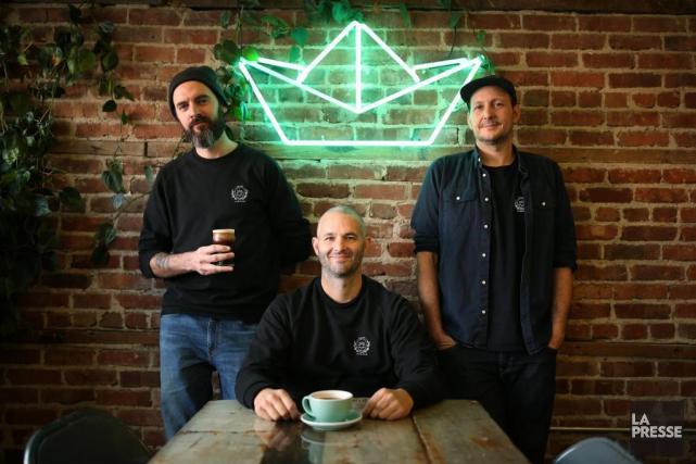 Le nouveau trio d'associés derrière le Paquebot et... (PHOTO Martin Chamberland, LA PRESSE)