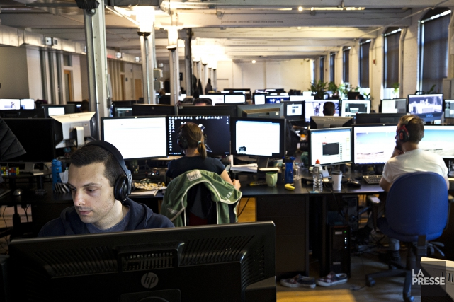 Les bureaux d'Ubisoft à Montréal.... (PHOTO PATRICK SANFAÇON, LA PRESSE)