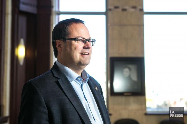 Le maire de Drummondville, Alexandre Cusson.... (Photo Hugo-Sébastien Aubert, archives La Presse)