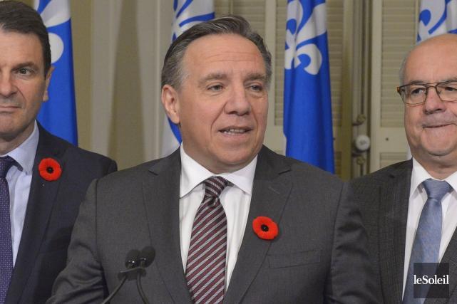 Le chefde la Coalition avenir Québec (CAQ), François... (Photo Pascal Ratthé, Le Soleil)