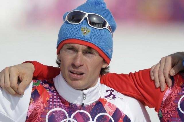 Le fondeur russe Maxim Vylegzhaninavait remporté trois médailles... (Photo Matthias Schrader, archives AP)