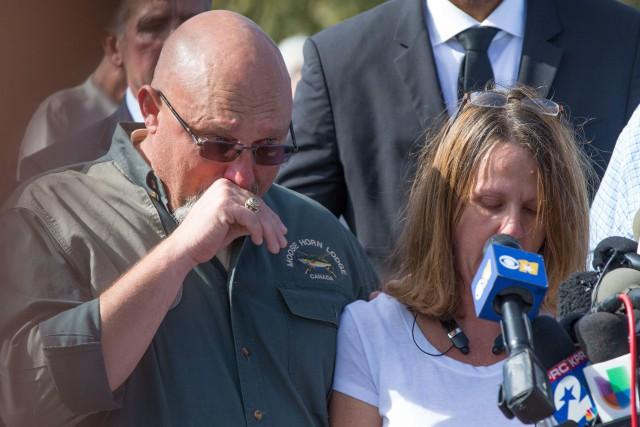Le pasteur Frank Pomeroy et sa femme Sherri... (PHOTO SUZANNE CORDEIRO, AFP)