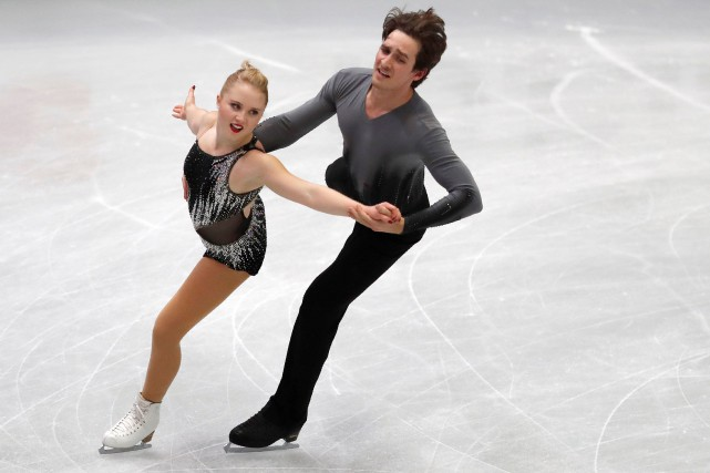 Julianne Séguin et Charlie Bilodeau... (Photo Kim Kyung-Hoon, Reuters)