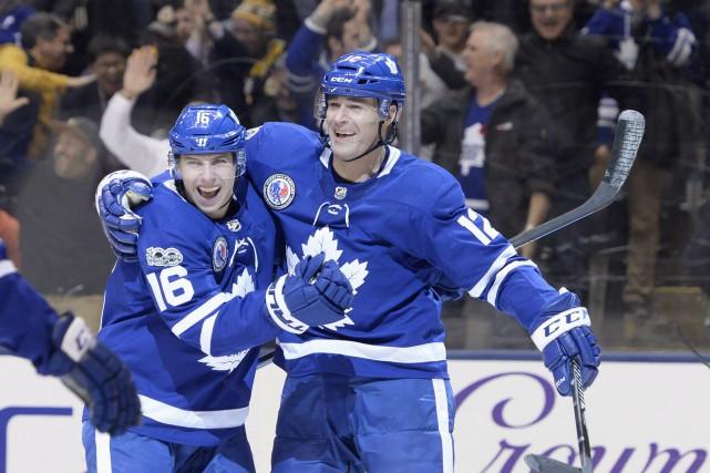 Les Maple Leafs ont balayé la série de... (Photo La Presse Canadienne)