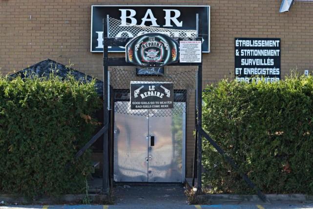 La façade de l'Ostid'Bar qui fait l'objet du... (Photo Patrick Sanfaçon, La Presse)