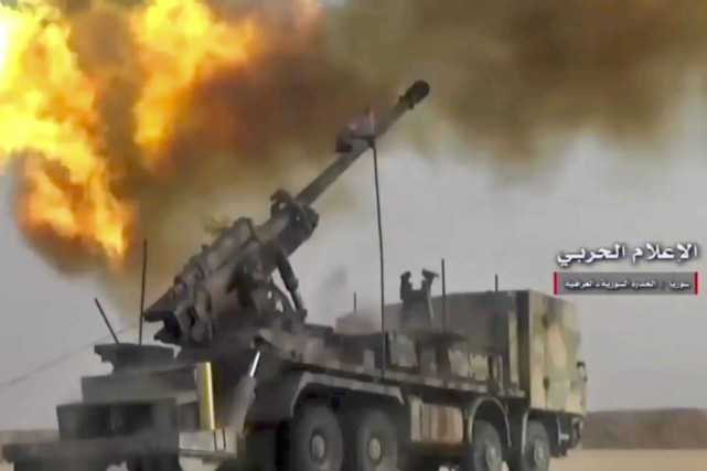 Les djihadistes de l'EI ont repris la totalité... (Capture d'écran fournie par AP)
