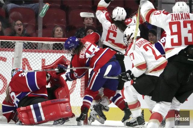 La formation montréalaise, qui a effectué 24 lancers,... (PHOTO BERNARD BRAULT, LA PRESSE)
