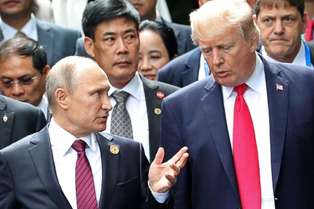 Les deux chefs d'État ont, au cours de... (AP)