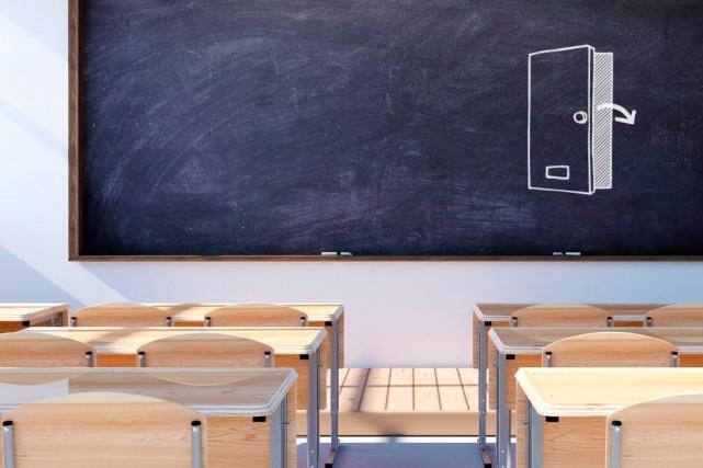 «Les commissions scolaires devraient s'assurer que des mécanismes... (Photomontage La Presse)