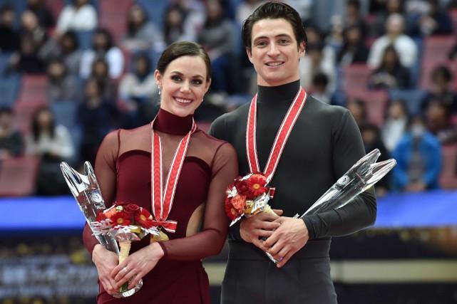 Winners Tessa Virtue and Scott Moir of Canada... (Photo KAZUHIRO NOGI, Agence France-Presse)
