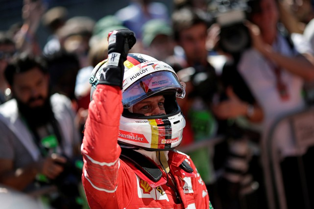 Sebastian Vettel... (PHOTO UESLEI MARCELINO, REUTERS)
