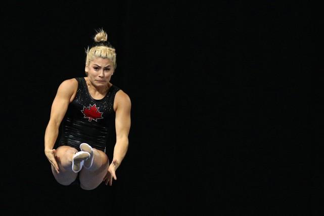 Sophiane Methot en action.... (Photo Stoyan Nenov, REUTERS)