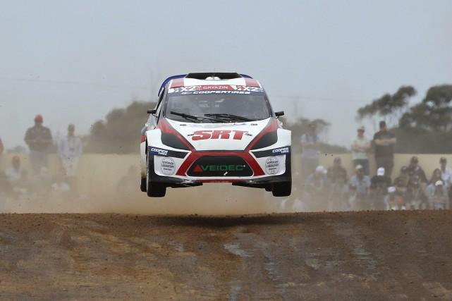 Le Rallycross plaît aux constructeurs automobiles parce qu'il... (photo AFP)