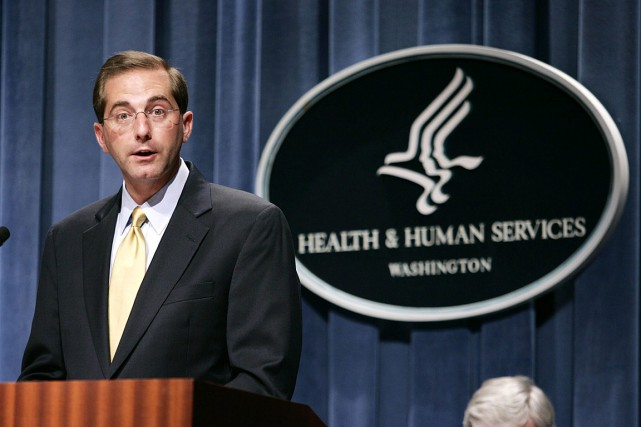 Alex Azar en 2006... (PHOTO EVAN VUCCI, ARCHIVES ASSOCIATED PRESS)
