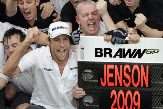 Jenson Button a connu toutes sortes d'émotions à... (photo : REUTERS)